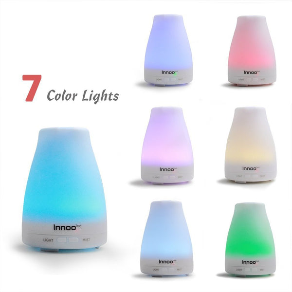 Innoo Tech Oil Diffuser with 7 Changing Color LED Lights with eBooks - 100 ml