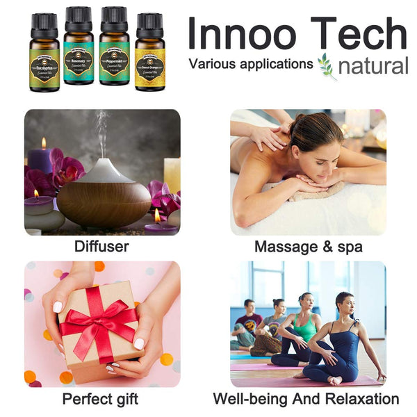 Innoo Tech Essential Oils Set for Diffuser, 20 x 5 ml