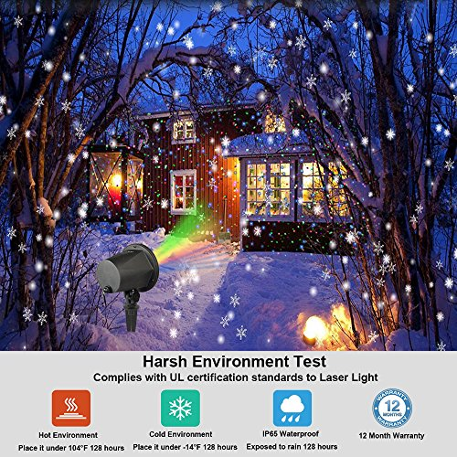 Laser Christmas Lights Outdoor, Aluminum RGB InnooLight Christmas Holiday Lights
