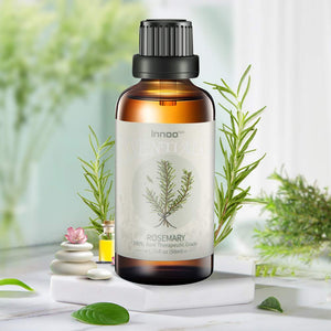 Innoo Tech Rosemary Essential Oil 50ml - Pure, Natural, Cruelty Free, Vegan, Steam Distilled and Undiluted - to use in Aromatherapy & Diffusers