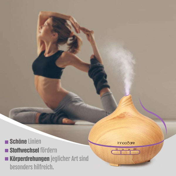 Innoo Tech Wood Grain Cool Mist Humidifier 300ml Essential Oil, Ultrasonic Aroma Diffuser