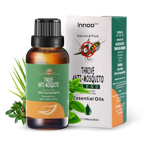 Innoo Tech Essential Oil Aromatherapy ANTI-Mosqyito Oils - Lemongrass, Peppermint and Tea Tree Essential Oils for Diffuser - Aromatherapy Oils for Anti Mosquito, 30ML