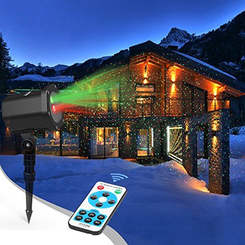 InnooLight Laser Christmas Lights Outdoor Laser Light Show Red and Green IP65 Waterproof Outdoor Decoration