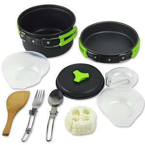 Compact Lightweight Durable Hiking Outdoors Camping Cookware Set