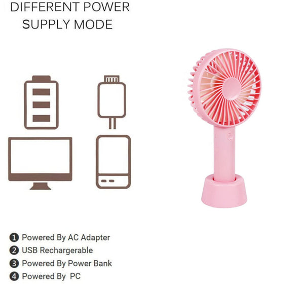 Innoo Tech Handheld Fan, Portable USB Fan Mini Outdoor Fan, Silent Desktop Cooling Fan with Adjustable 3 Speed Modes Electric Fan for Home Office Travel
