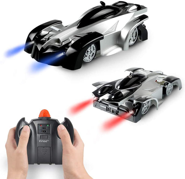 Innoo Tech Wall Climbing Car Toys for Boy - Remote Control Car Climber with Battery Rechargeable | Dual Mode 360°Rotating Stunt,LED Head Gravity-Defying, Gift for Boys Kids Birthday Christmas