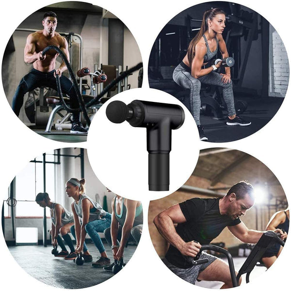 Innoo Tech Massage Gun, Percussion Electric Muscle Massager, Portable HandHeld Body Deep Muscle Massager for Relieving Muscle Soreness, with 6 Replaceable Massage Heads, 6 Adjustable Speeds