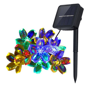 Outdoor Flower Garden Multi Color Solar String Lights