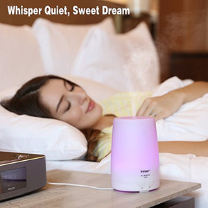 7 Color The 3rd Version 300ml Aromatherapy Essential Oil Diffuser Long Lasting with 4 Timer Settings