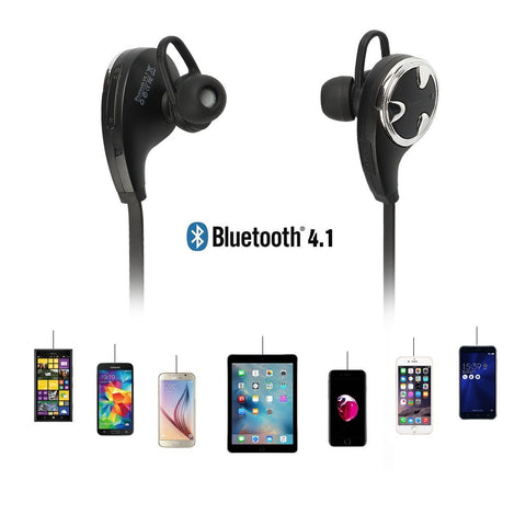 Sweatproof Wireless Bluetooth Sport Stereo Headphones with Mic