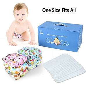 Washable Reusable Adjustable Eco-Friendly Cotton Cloth Pocket Diaper