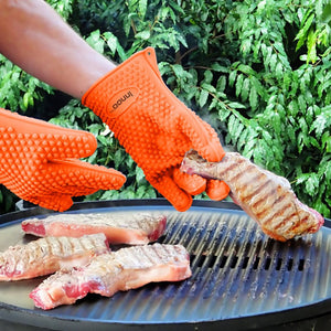 More Thicker Heat Resistant BBQ Grill Gloves