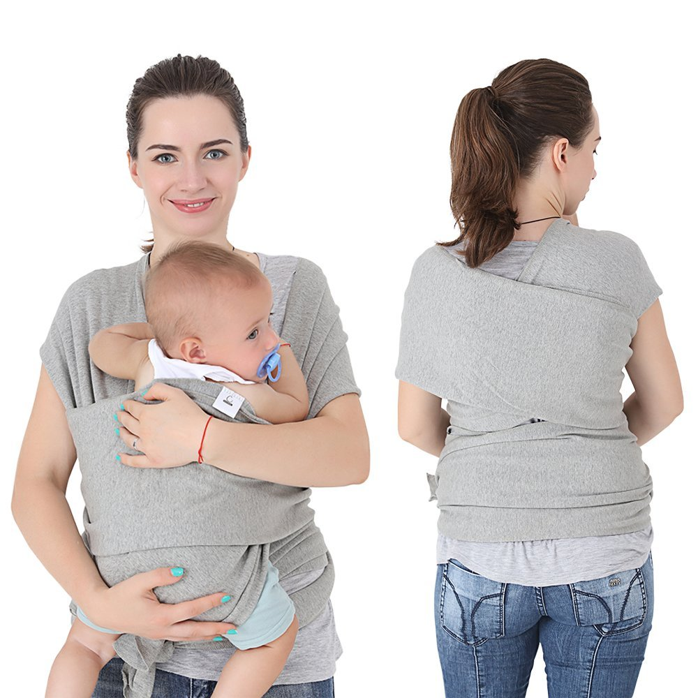 Gray Soft Comfortable Natural Cotton Baby Sling Carrier Innoo Tech