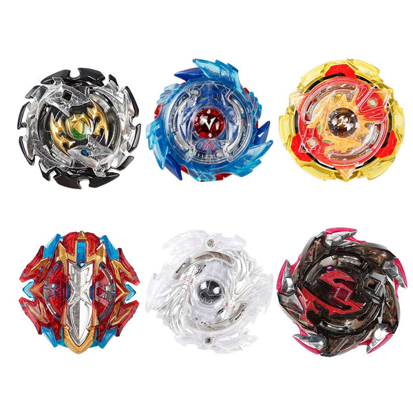 Innoo Tech 6 Pieces Bey Battle Blade Burst Gyro Top Set, 4D Fusion Model Metal Masters Acceleration Launcher, Speed Spinning Top, Great Kids Toy