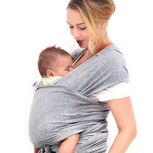 Gray Soft Comfortable Natural Cotton Baby Sling Carrier