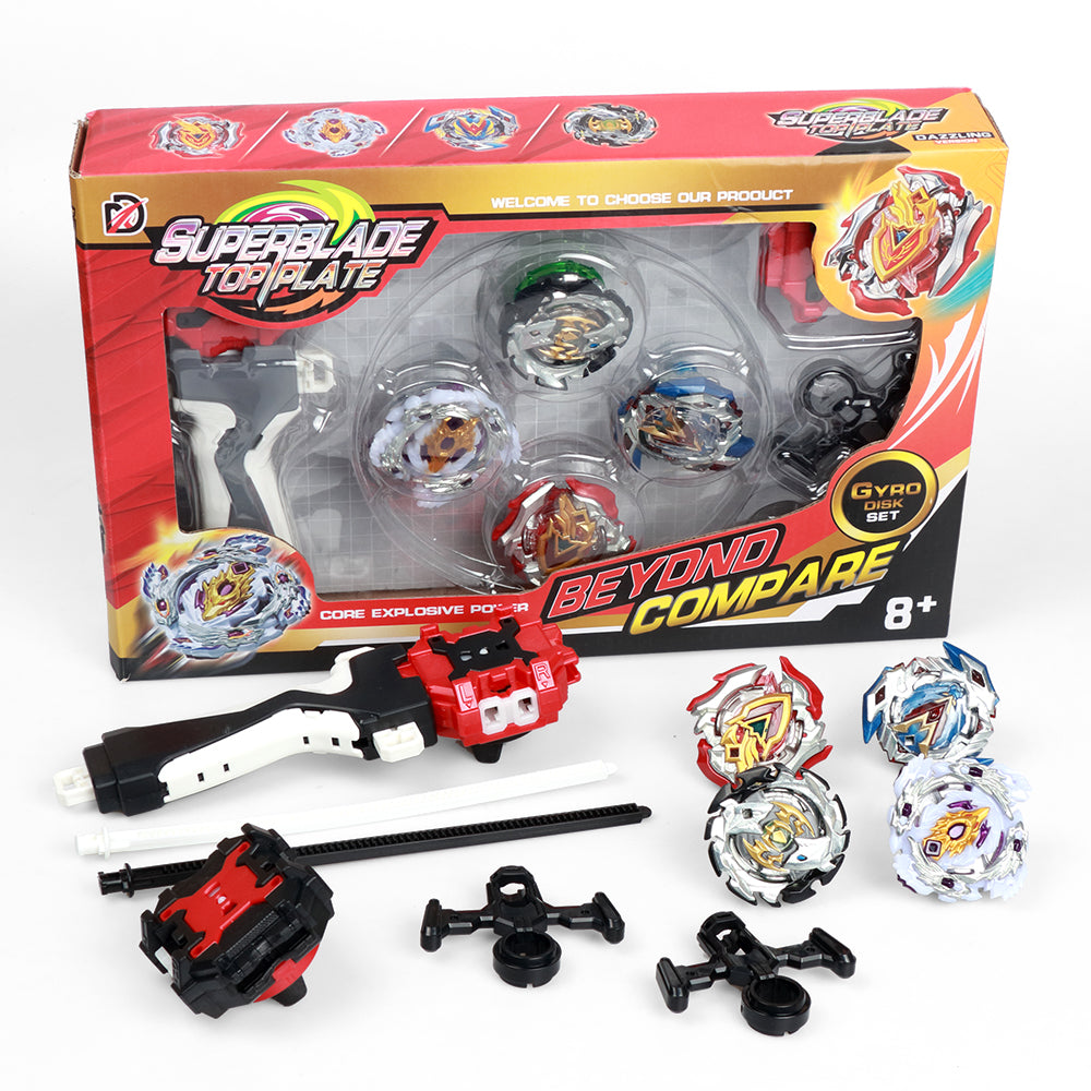 Bey Battling Top Blade - Toys for Kids Battle Gyro Children Teens Gifts Birthday Graduation Burst Rotating Toy| Battling Tops x4; Power Launcher x2; Launcher Grip x1