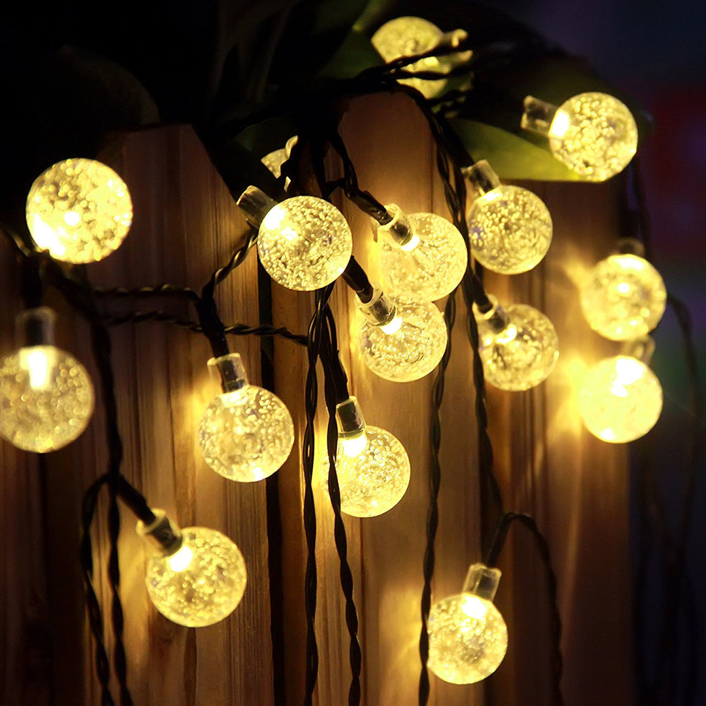 Warm white crystal ball outdoor solar string lights innoo tech warm white crystal ball outdoor solar string lights mozeypictures Images