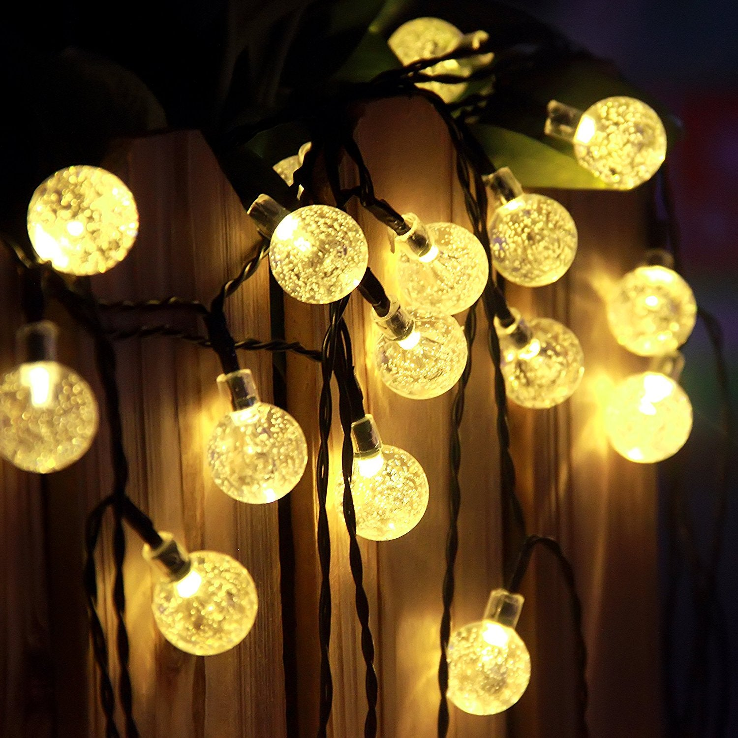 Warm White Crystal Ball Outdoor Solar String Lights – Innoo Tech