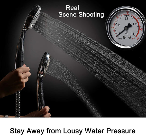 Innoo Tech Shower Head, Universal Handheld Shower Head with Adjustable 5 Spray Modes, Pressure Boosting Shower Head Spray With 5ft Hose Set for Bathroom