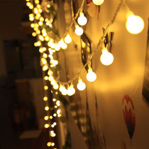 LED String Light Globe - 10m 100 LED Globe Light Fairy Lights 8 Modes Indoor Outdoor| Decoration Party Wedding Bedroom Outdoor Waterproof