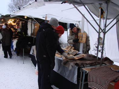 Jokkmokk winter market, arctic circle, swedish lapland