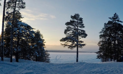Winter in Sweden, snow and ice