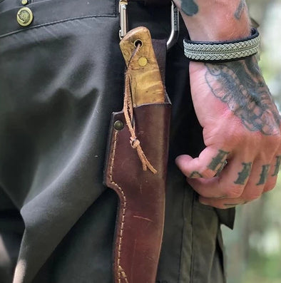 Sami bracelet for men, love the outdoors hiking julevu.com reindeer leather bracelt for men