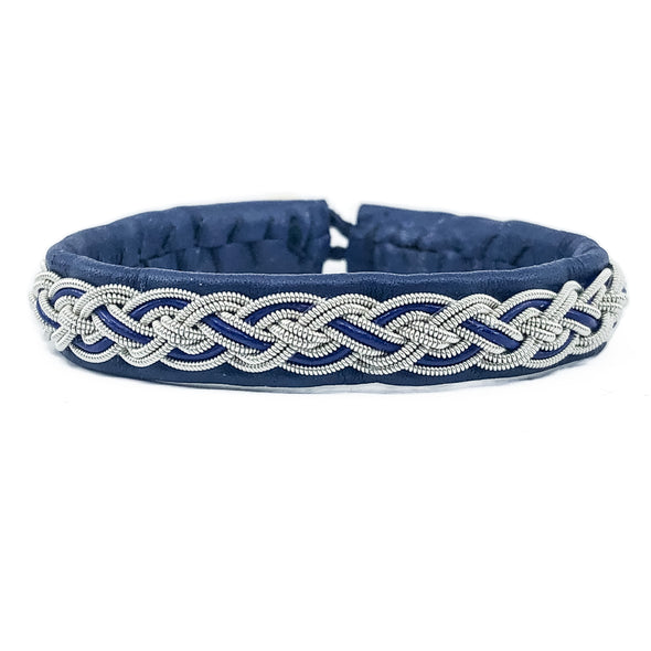 Blue sami bracelet model Alice by Julevu. Handpicked products of Nordic design and handicraft