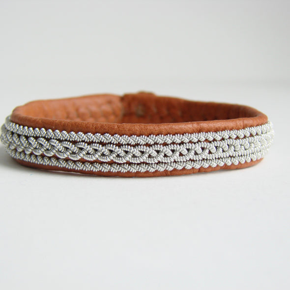 Julevu leather women's bracelet exclusive Sami bracelet Lapland