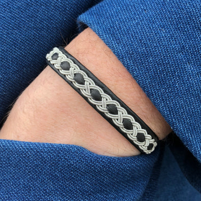 Popular Swedish bracelet by Julevu. Saami style handmade bracelet. Men's jewelry