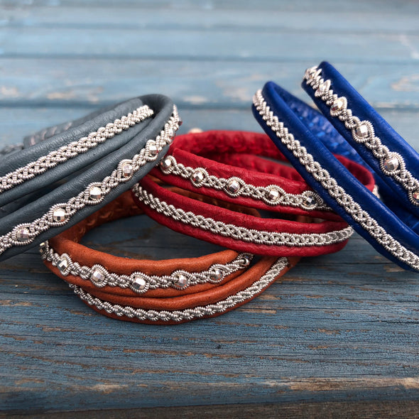 Double wrap bracelet, Swedish bracelet, Julevu gift for women leather bracelet handmade Sami bracelet Lapland Scandinavia