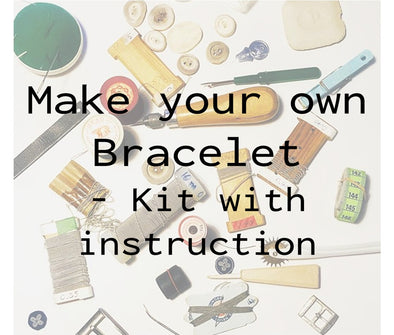 Kit make your own bracelet, instruction how to make Sami bracelet, julevu.com
