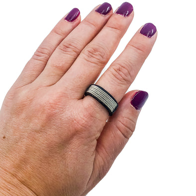 Jewellery for women rings with leather by Julevu Sweden