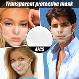 Deaf mute Maske adult transparent Plastic mouth maskes facesheild face maks reusable dropshipping cosplay custom mascarillas
