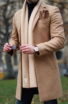 Mens Winter Long Trench Coat