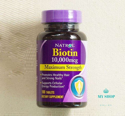 1 pcs Biotin, Maximum Strength, 10,000 mcg - myshoponline.com