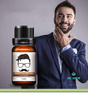 100% Natural Organic Moustache Oil Beard Wax Balm Hair Beard Growth Treatments - myshoponline.com
