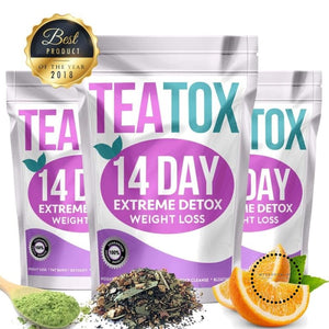 100% Pure Natural Detox Tea 14 Days Colon Cleanse Fat Burn Weight Loss Tea For Man and Women Tea Belly Slimming Tea Teato - myshoponline.com