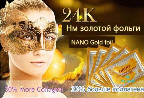 10pcs=5pack Anti-Aging Gold Crystal Collagen Eye Mask Crystal Beauty Anti Dark Circle Anti-Puffiness Cream - myshoponline.com