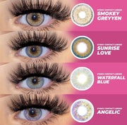 EYESHARE 2pcs/pair Hidrotone Eyes Crystal Natural Color Contact Lenses Cosmetic Contacts
