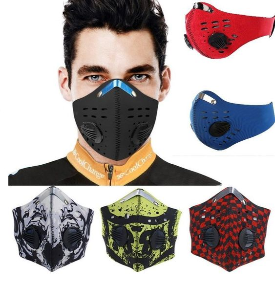 Antiviral Anti Dust Sport Face Mask With Filter Activated Carbon PM 2.5 Anti-Pollution Running Cycling Mask