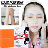 2 pcs Kojie San Whitening Soap Skin Lightening Soap Bleaching Kojic Acid Glycerin Handmade Soap Deep Cleaning Brighten Skin - myshoponline.com