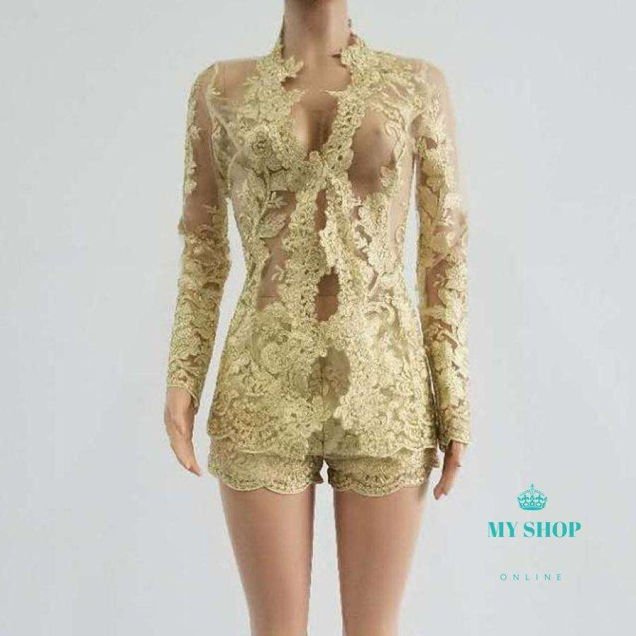 2 Piece Set Women Lace - myshoponline.com