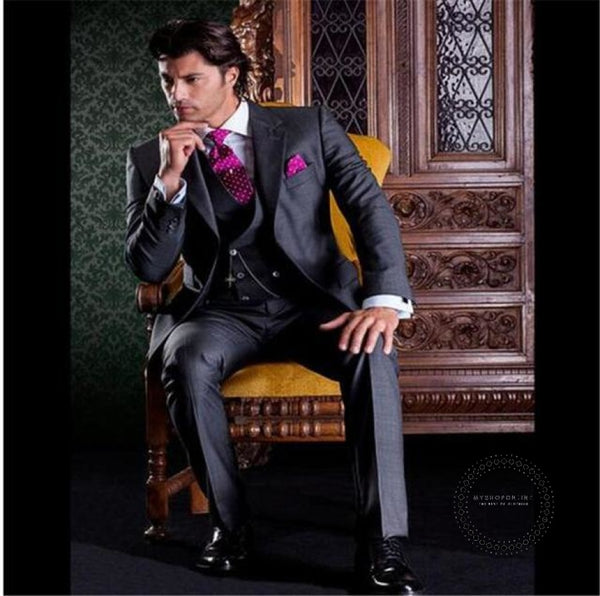 2 Pieces Hot Pink Shawl Lapel Casual Men Suit Slim Men's Cool Party Blazer Celebrity Prom Tuxedo Terno Masculino (Jacket+Pants) - myshoponline.com