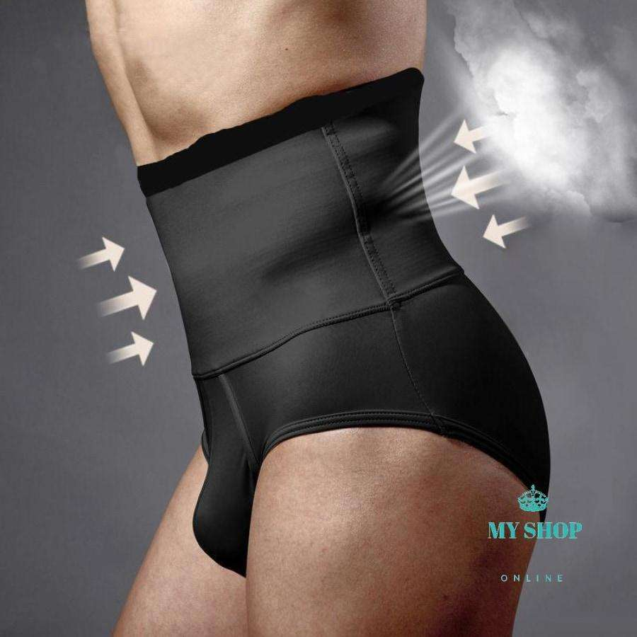 2PC/lot Mens Butt Lifter Control Panties High Waist Trainers Belly Trimmer Fat Reduce Slimming Underwear Body Shapers Tights - myshoponline.com