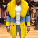 Jackets Coats Rabbit Man Brand-Clothing Long Men's Winter Jacket Woolen Overcoat Men Trench Coat
