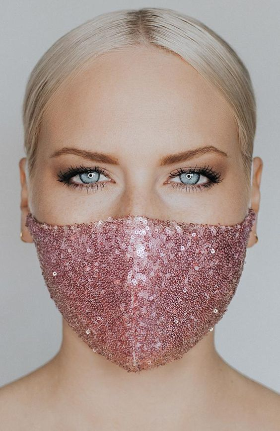 Best Women Fashion Mouth Mask coronavirus Cotton Anti Dust Anti Haze Washable Reusable Glittering Face Mask with Paillette