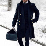 Fashion Men's British Style Solid Color Coats