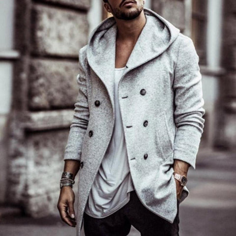 men's wool coat autumn winter mens long trench coat Cotton Casual woollen men overcoat mens coats and jackets S-3XL