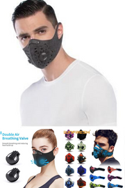 coronavirus activated carbon filter anti pollution cycling neoprene mouth half face mask motorcycle